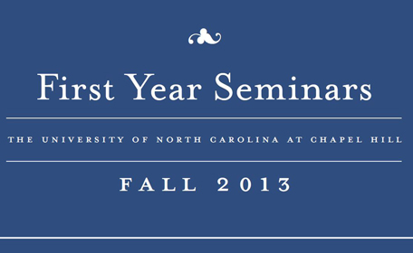 Fall 2013 First-Year Seminars Brochure - Thumbnail